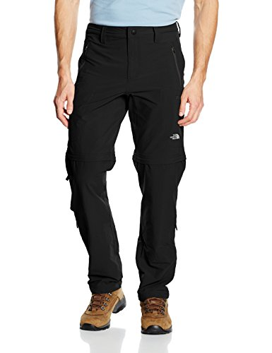 The North Face Herren Hose Exploration Convertible, Tnf Black, 36 Regular