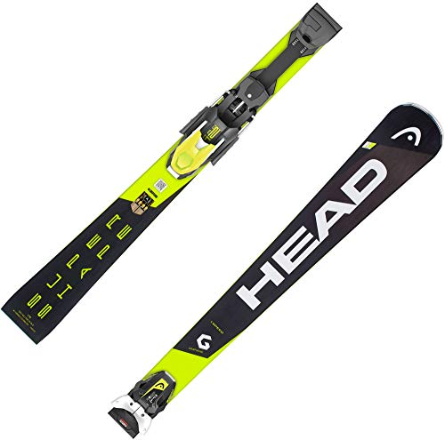 HEAD Herren Skier Supershape i.Speed inkl. Bindung PRD 12 GW schwarz/gelb (703) 177